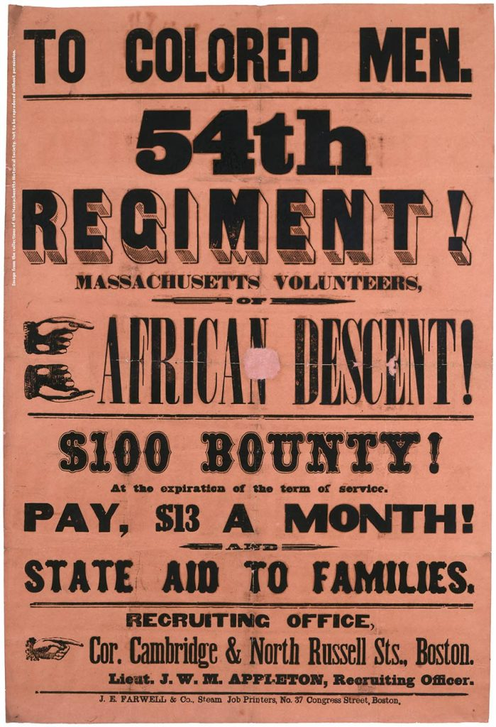 Recruiting Colored Men 54th Regiment